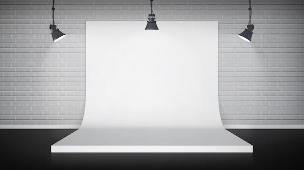 Interior del estudio vector gratuito