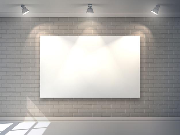 Interior de la galería vector gratuito