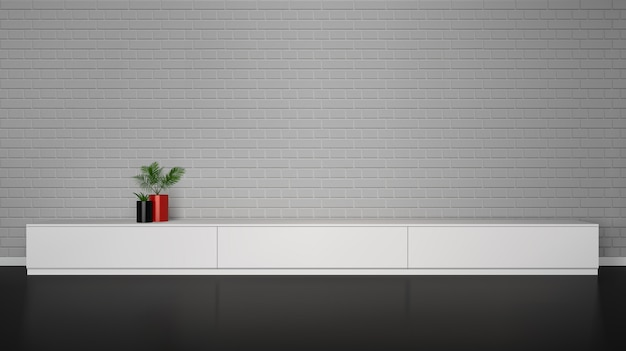 Interior minimalista vector gratuito