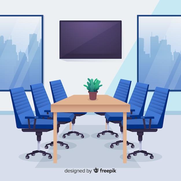 Interior de oficina moderna con diseño plano   Descargar Vectores gratis