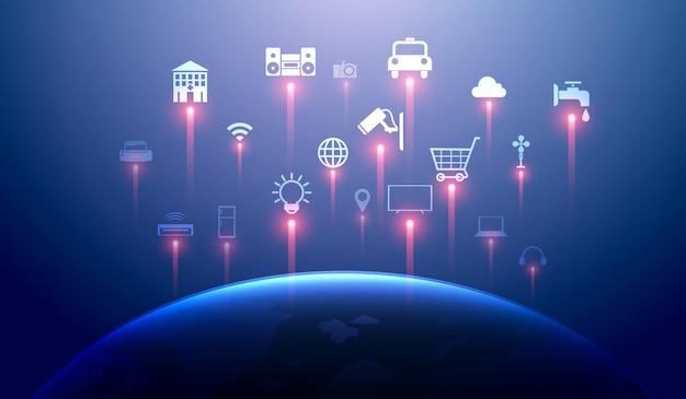 Internet de las cosas Vector Premium