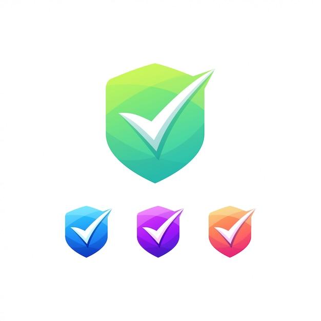 Interruptor de insignia de lista de verificación de botones Vector Premium