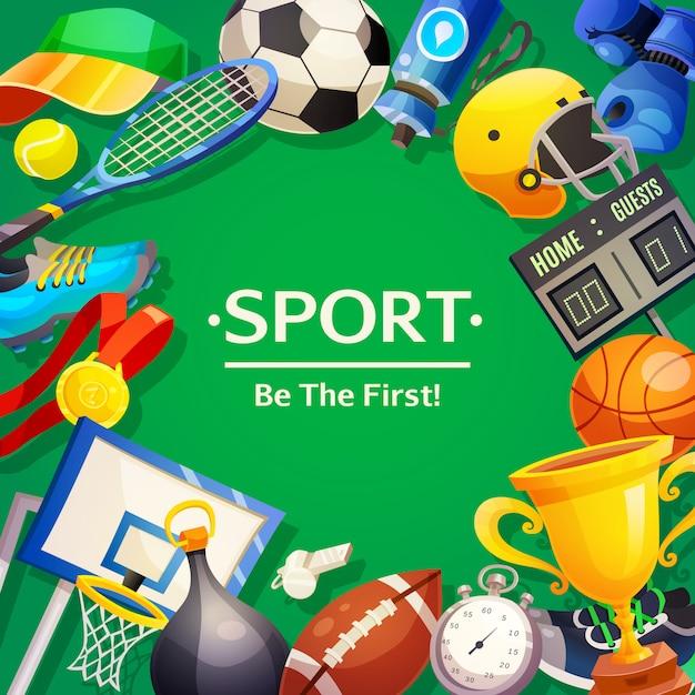 Inventario deportivo ilustración vectorial vector gratuito