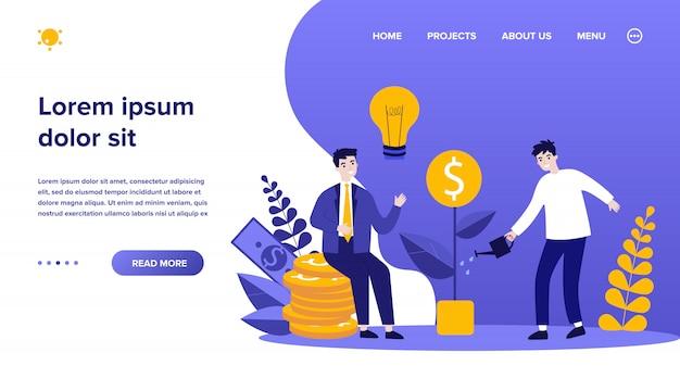 Inversores obteniendo ganancias de dinero Vector Premium