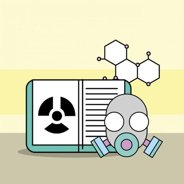 Investigacion de laboratorio de ciencias Vector Premium