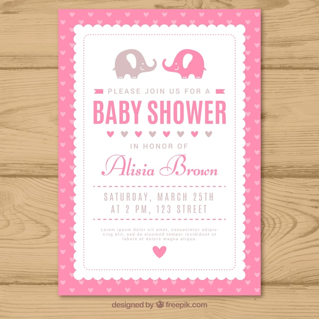 Invitacion Baby Shower Vectores Fotos De Stock Y Psd Gratis