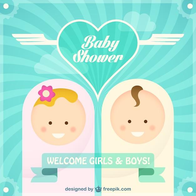 Invitación Baby Shower Vector Gratis