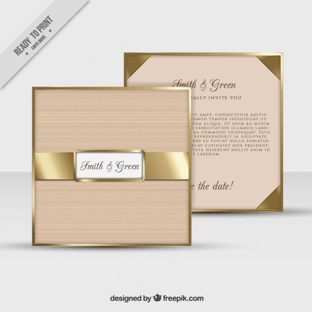 c57cbed56a5e4 Invitación de boda con detalles dorados