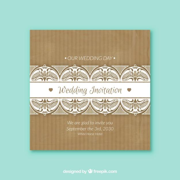 Invitaci n de boda de la vendimia con las formas for Formas ornamentales