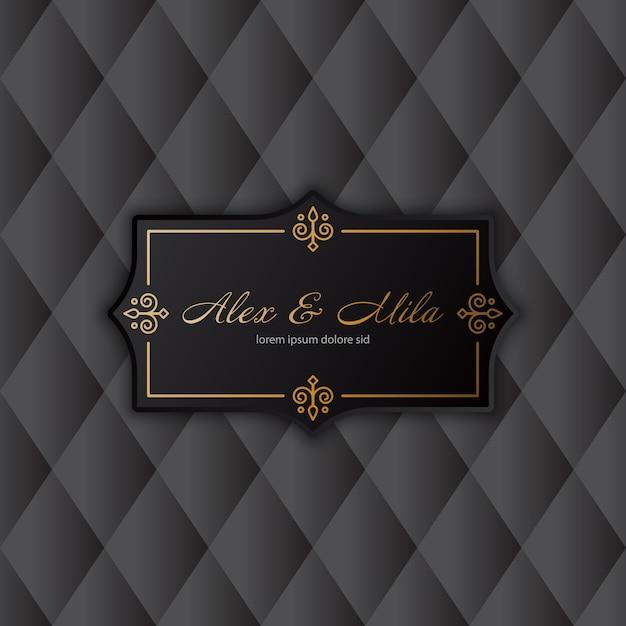 Invitación de boda de lujo Vector Gratis
