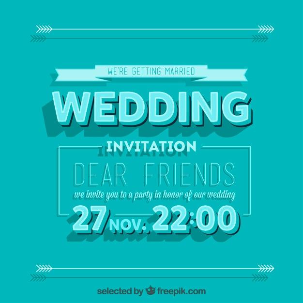 Invitaci n de la boda retro de color turquesa descargar - Como se hace el color turquesa ...