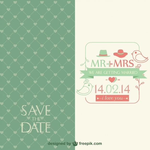 Invitación de la boda vintage, formato .ai | Descargar Vectores gratis