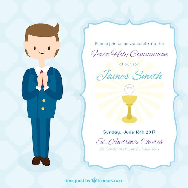 invitaciones de primera comunion para descargar