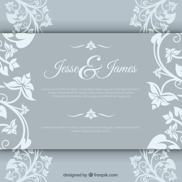 Invitacion Elegante Del Matrimonio Descargar Vectores Gratis