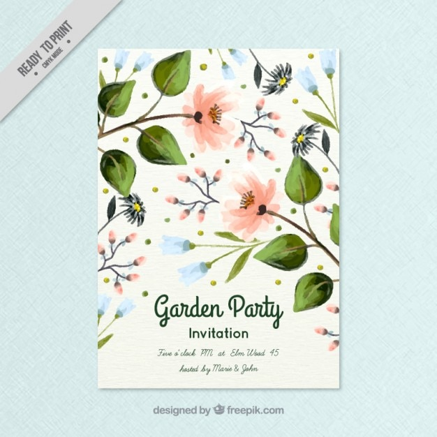 Invitación de fiesta de jardín de primavera | Descargar Vectores gratis