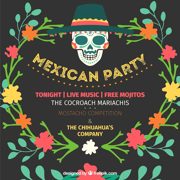 Invitación De Fiesta Mexicana Vector Gratis