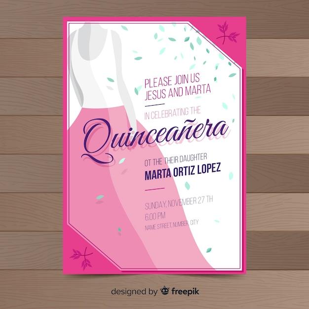 Invitación Quinceañera Vector Gratis