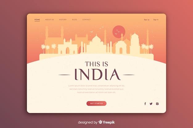 Invitación turística a la plantilla india vector gratuito