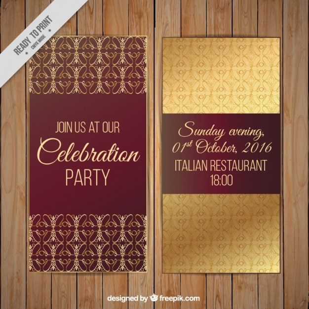 5f175e4e0f447 Invitaciones de fiesta con detalles dorados