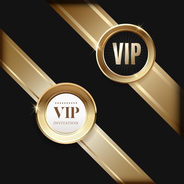 Invitaciones vip de lujo y fondos de cupones Vector Premium