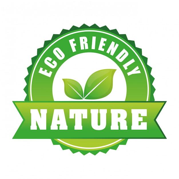 Ir diseño ecología verde Vector Premium