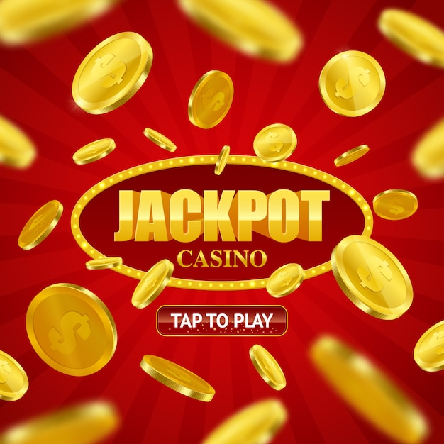 Jackpot casino online diseño de fondo vector gratuito