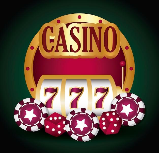Jackpot y casino vector gratuito