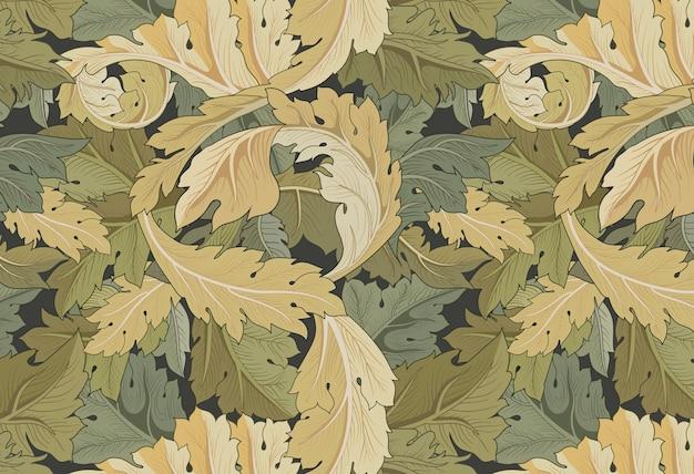 Jardín de flores de william morris vector gratuito