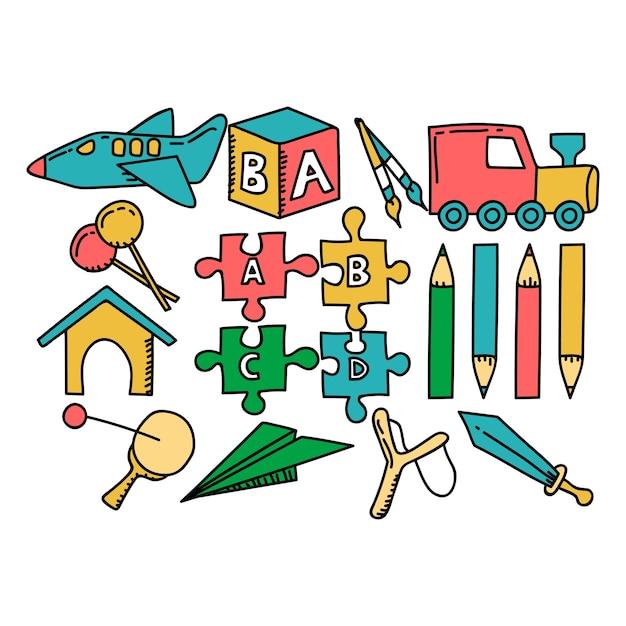 Jardín de infantes doodle | Descargar Vectores Premium