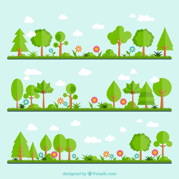 Jard n verde descargar vectores premium for Jardin verde