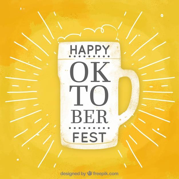 Jarra de cerveza moderna para el oktoberfest vector gratuito