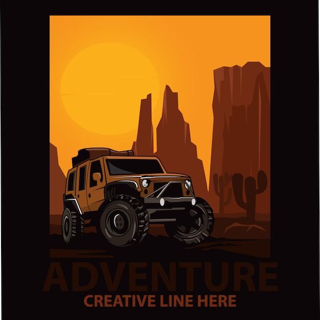 Jeep de aventura Vector Premium