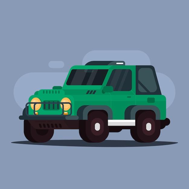 Jeep coche de aventura Vector Premium