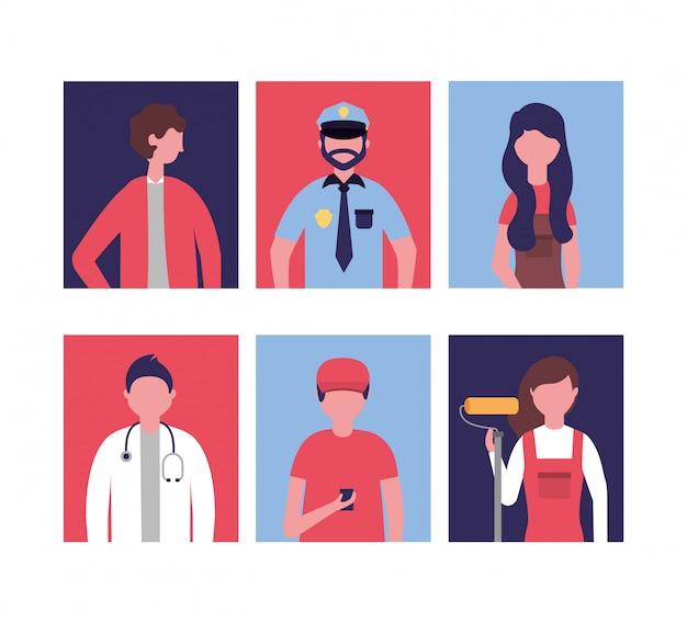 Jornada laboral de personas profesionales vector gratuito