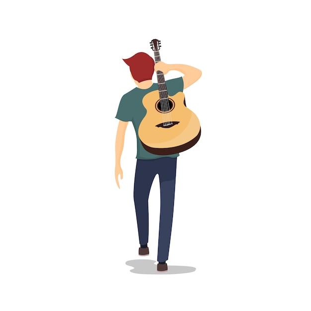 Resultado de imagen de guitarra a la espalda