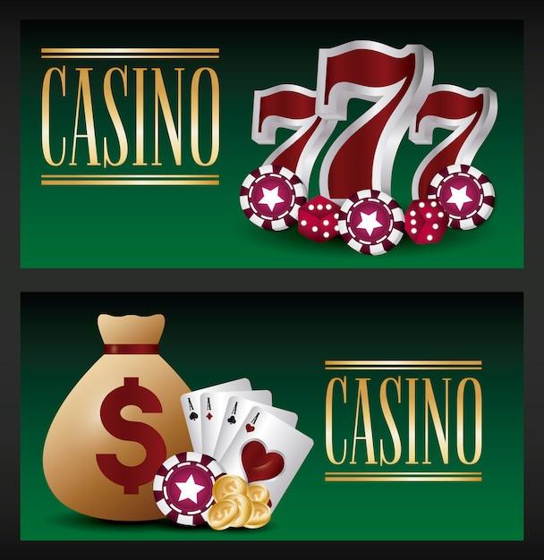 Juego de casino vector gratuito