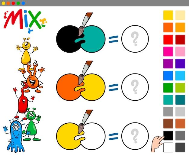 Juego de colores mezcla para niños   Descargar Vectores Premium