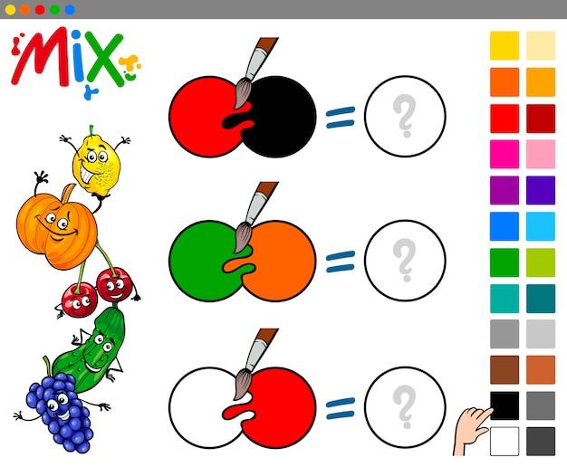 Juego de colores mix para niños   Descargar Vectores Premium