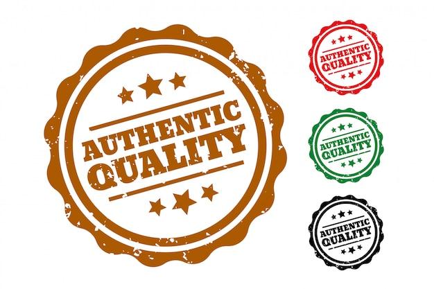 Juego de cuatro sellos de caucho de auténtica calidad vector gratuito