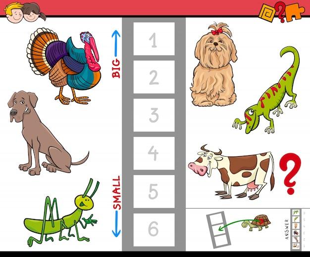 Juego de animales grandes y pequeños para niños | Descargar Vectores ...