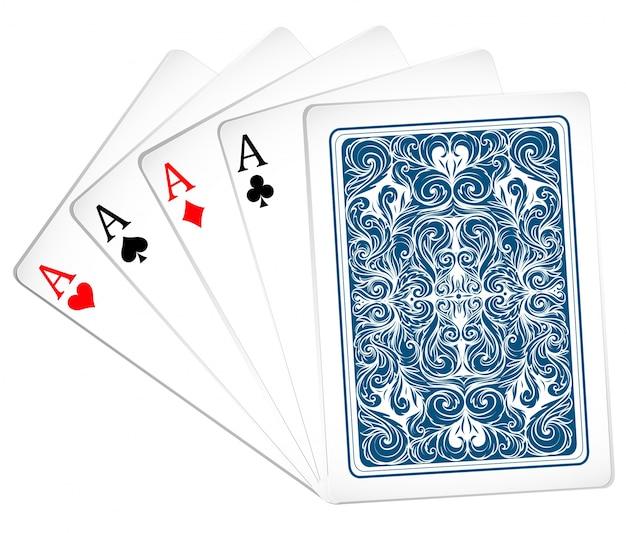 juego de ases con diseo de tarjetas vector gratis