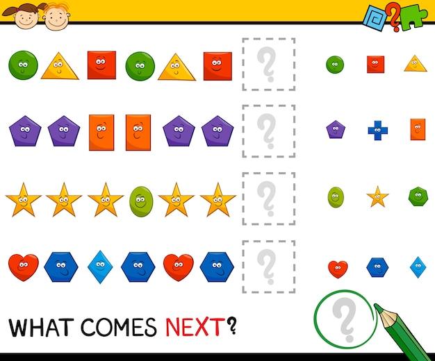 Juego de patrones preescolares con formas | Descargar Vectores Premium