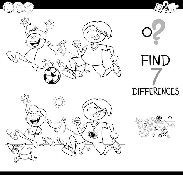 Juego de diferencias con niños y perros libro de colores   Descargar ...