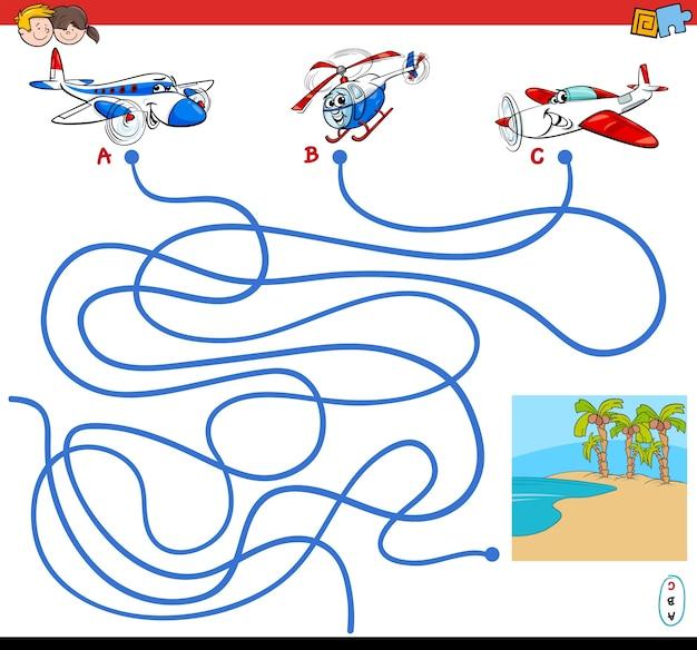 Juego De Laberinto De Caminos Con Personajes De Aviones Descargar
