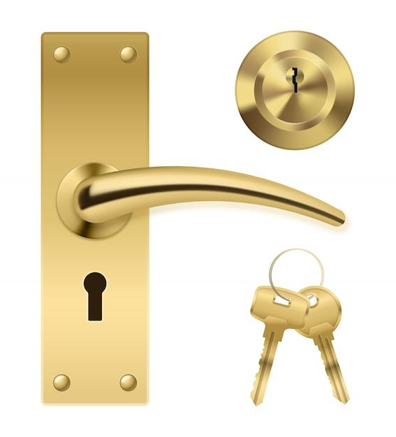 Juego de llaves de manija de puerta vector gratuito