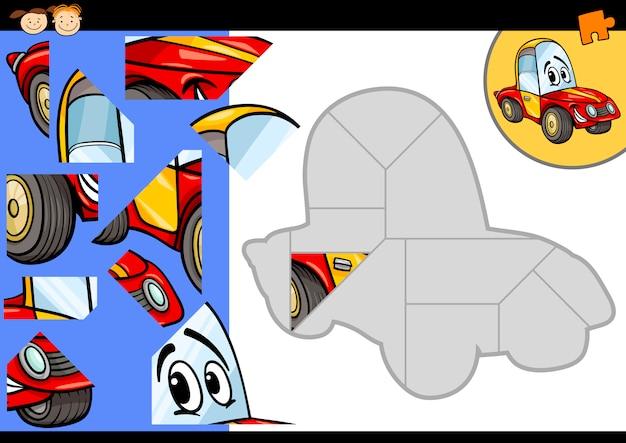 violencia infraestructura Vago  Juego de rompecabezas de coches de dibujos animados | Vector Premium