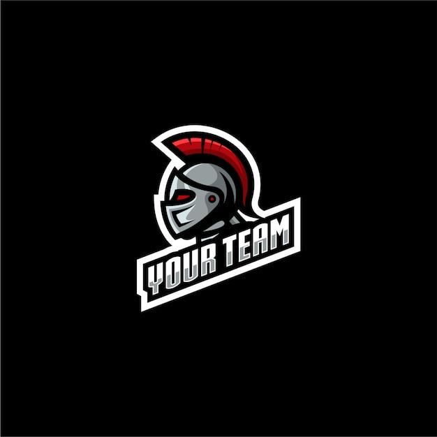 Juegos de logotipos espartanos Vector Premium