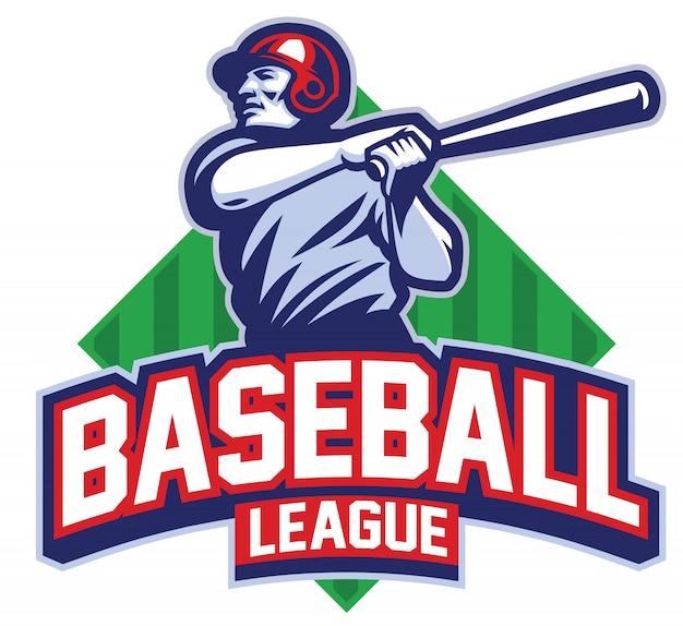 Jugador de béisbol golpea la pelota Vector Premium