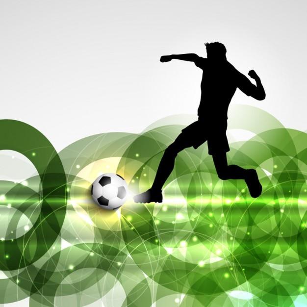 Jugador de f tbol en un fondo abstracto descargar for Fondos de futbol