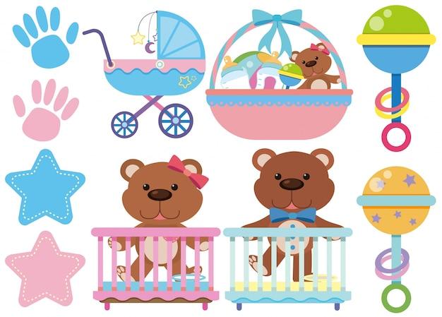 Juguetes accesorios para bebés sobre fondo blanco descargar jpg 626x449  Asesorios accesorios bebes 5dc5de335d1e